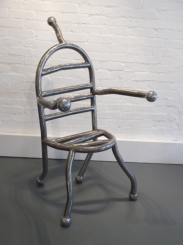 Chair of Reflection exhibited at Williams Art Cambridge