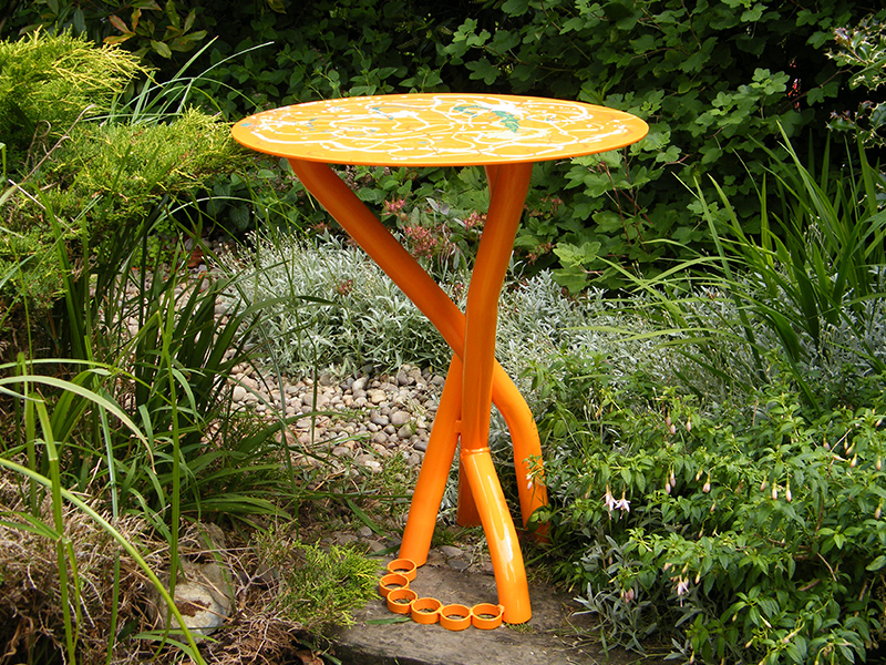 Orange Table viewed in Artist Garden