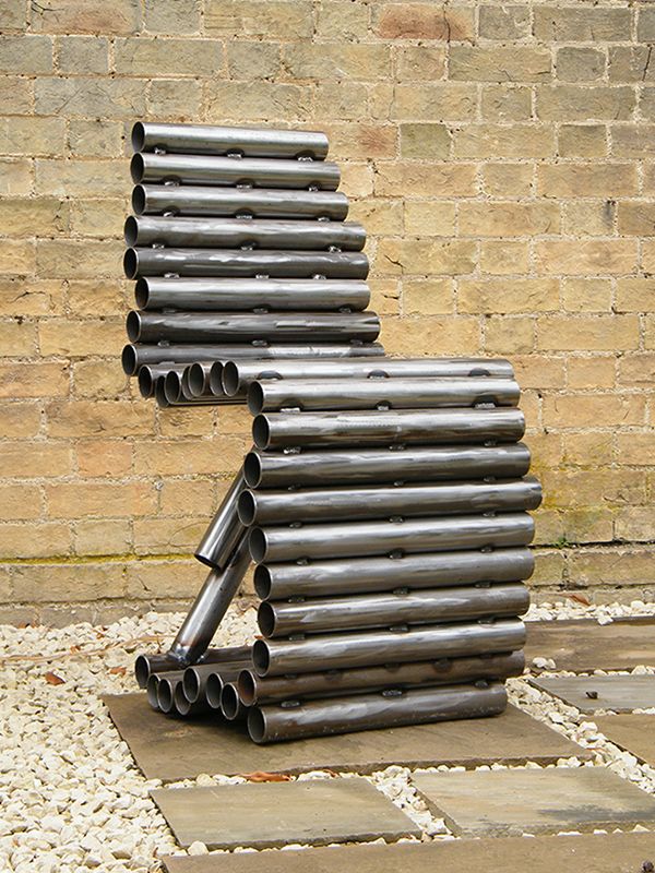 Tube Chair - created from welded steel tubes