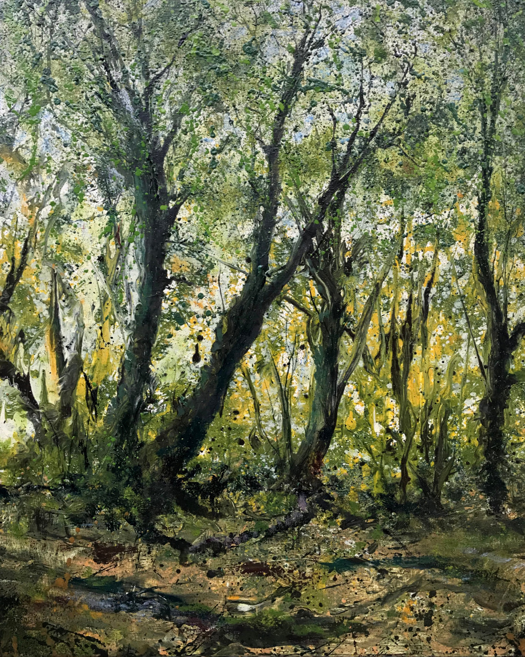 Landscape painting, At the edge of the wood 2