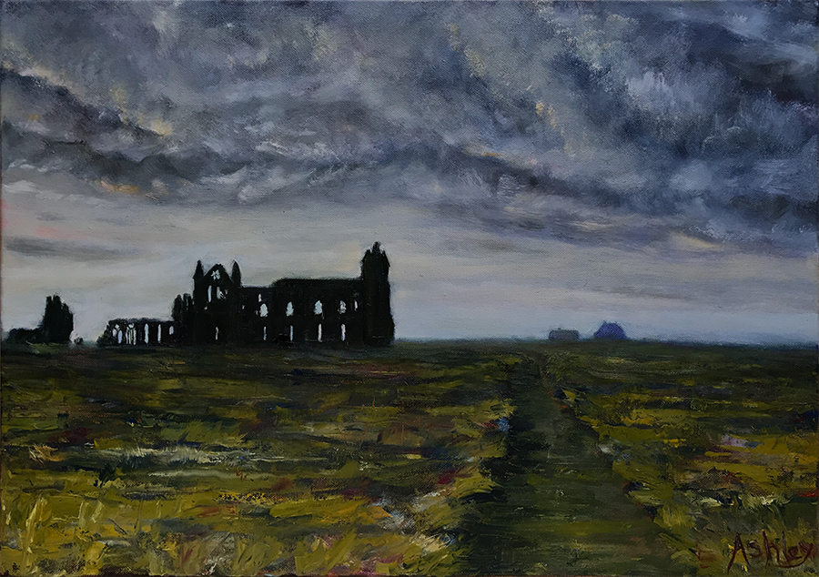 Whitby landscape oil painting