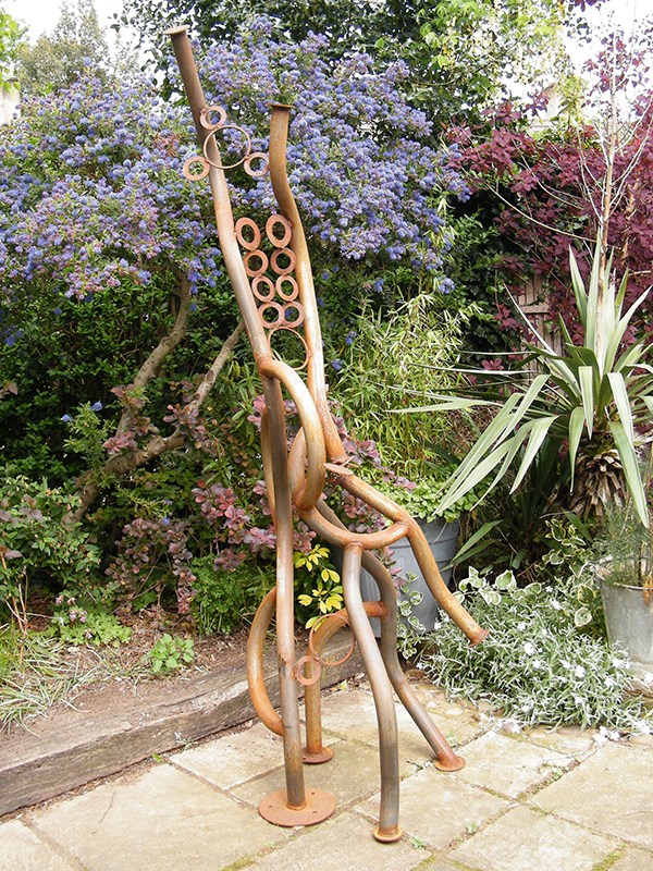 Serpentine steel sculpture